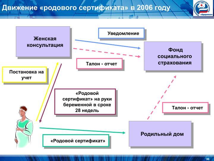 Движение «родового сертификата» в 2006 году