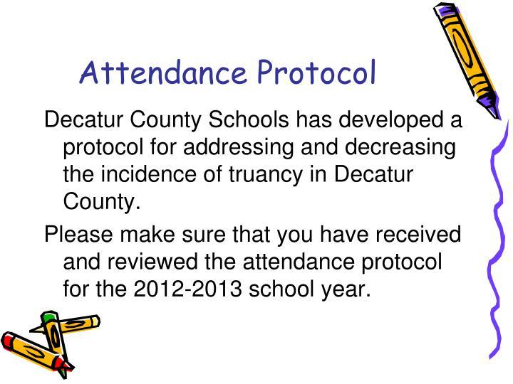 Attendance Protocol