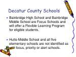 decatur county schools