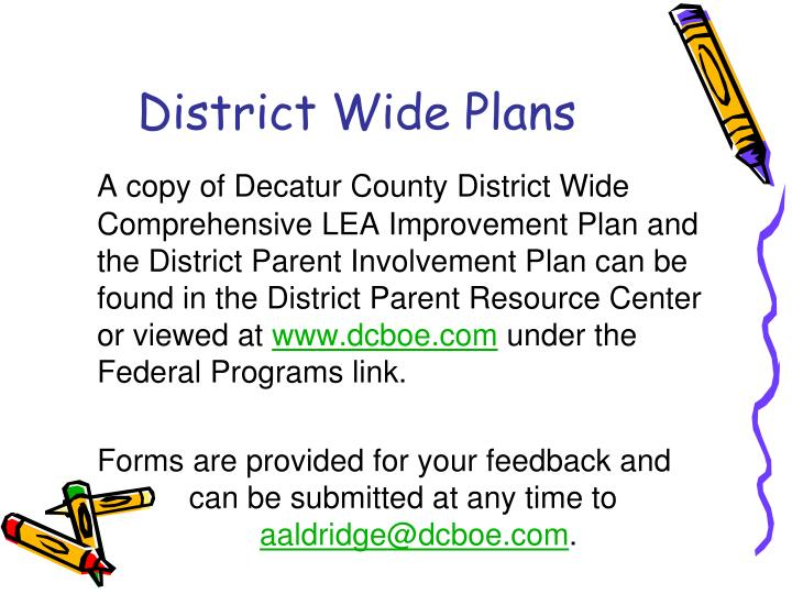 District Wide Plans