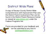 district wide plans