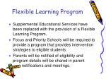 flexible learning program