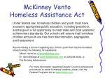 mckinney vento homeless assistance act