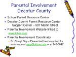parental involvement decatur county