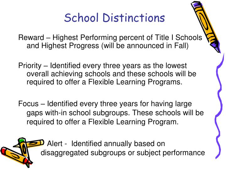 School Distinctions