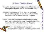 school distinctions