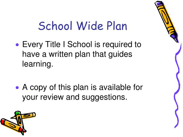 School Wide Plan