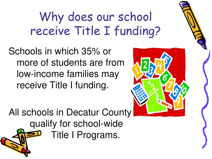 Why does our school receive Title I funding?
