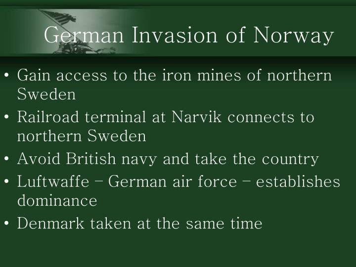 German Invasion of Norway