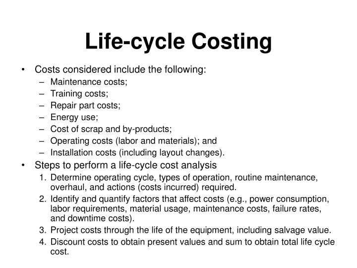 Life-cycle Costing