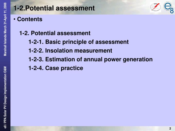 1 2 potential assessment