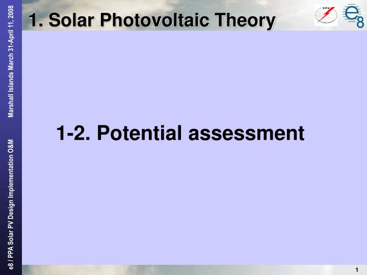1 solar photovoltaic theory