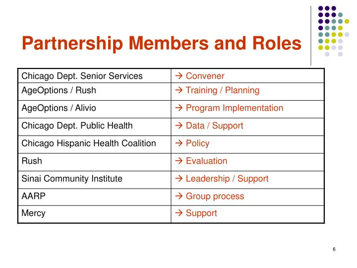 Partnership Members and Roles