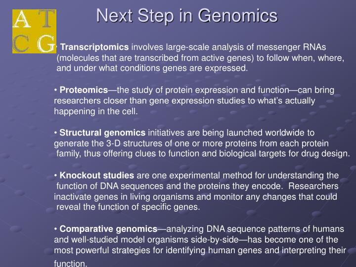 Next Step in Genomics