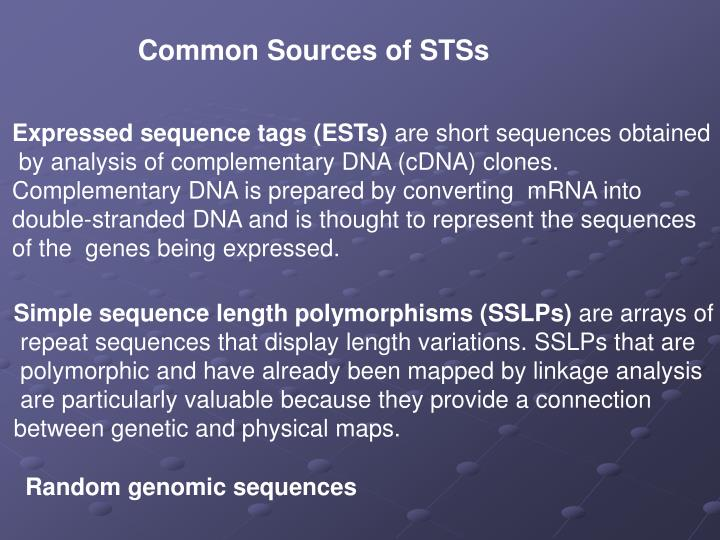 Common Sources of STSs