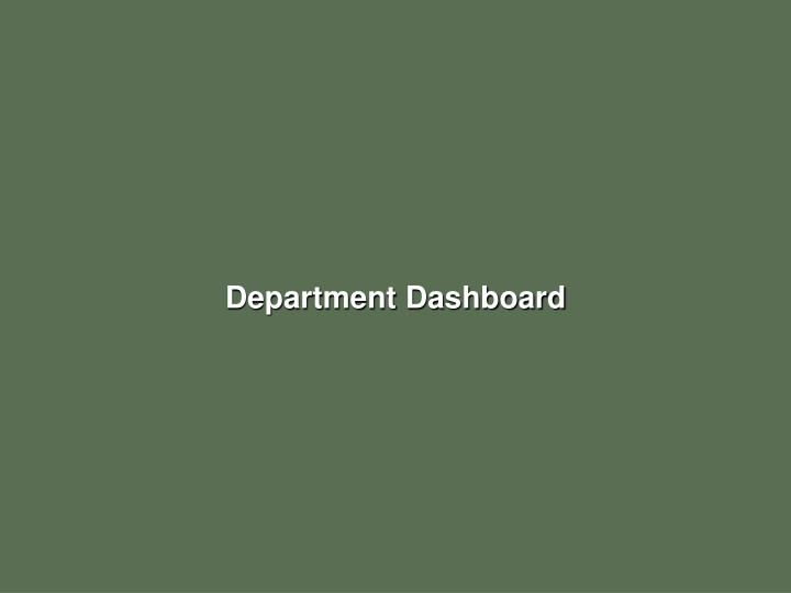 Department Dashboard