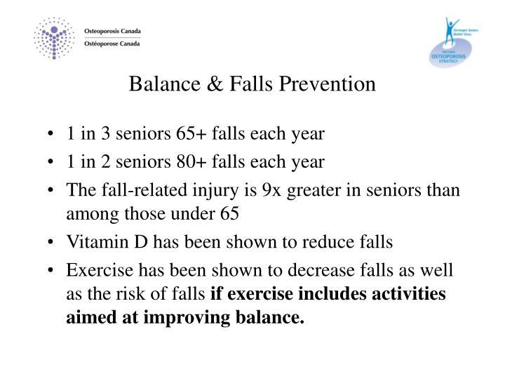 Balance & Falls Prevention