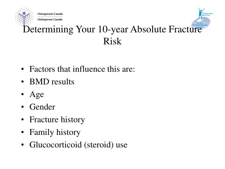 Determining Your 10-year Absolute Fracture Risk