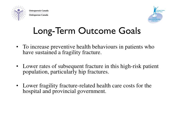 Long-Term Outcome Goals