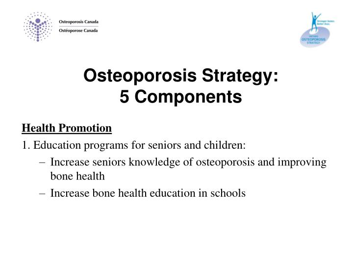 Osteoporosis Strategy: