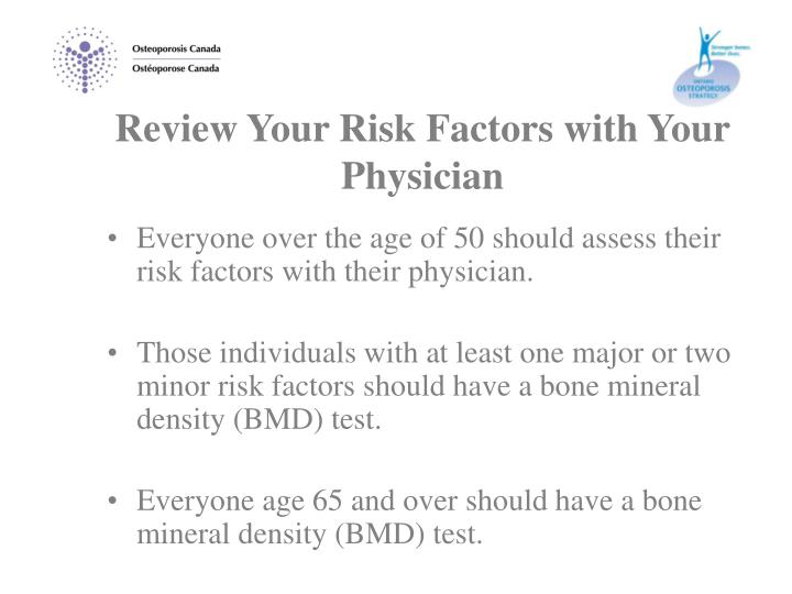 Review Your Risk Factors with Your Physician