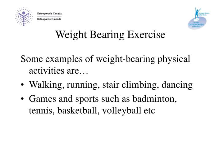 Weight Bearing Exercise