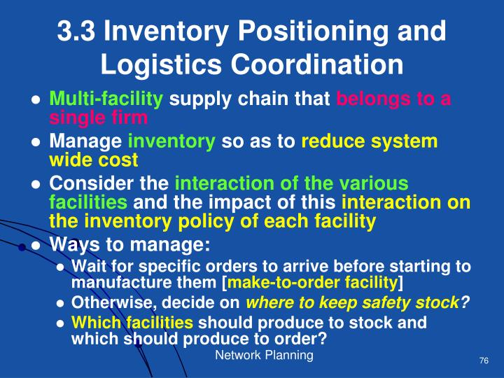 3.3 Inventory Positioning and Logistics Coordination