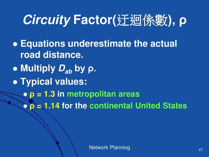 Circuity
