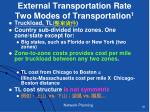 external transportation rate two modes of transportation 1