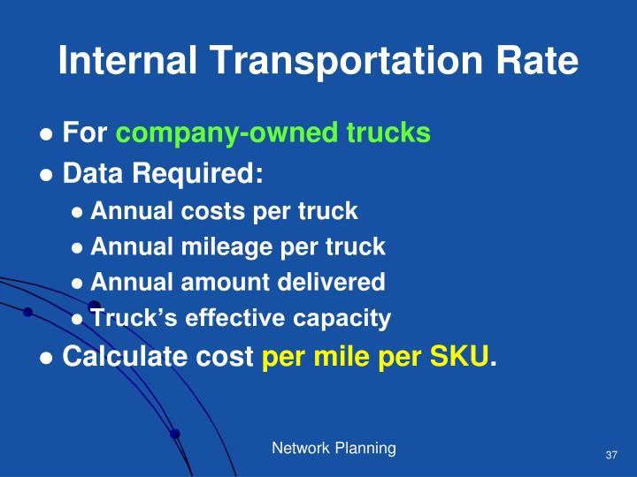Internal Transportation Rate