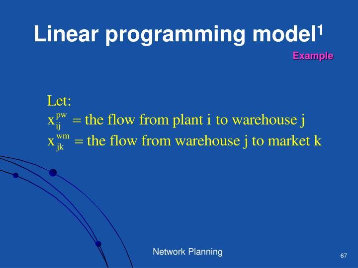 Linear programming model