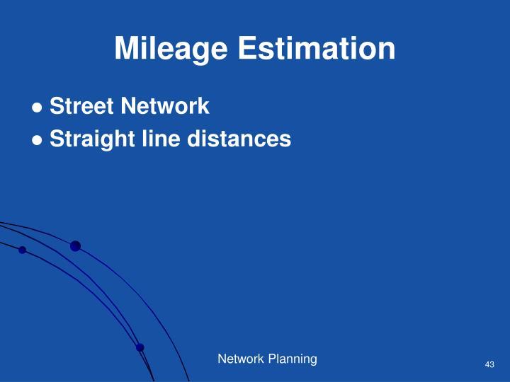 Mileage Estimation