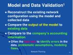 model and data validation 1