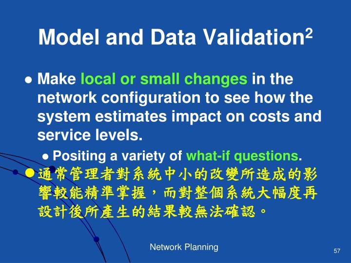 Model and Data Validation