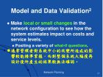 model and data validation 2