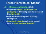 three hierarchical steps 3