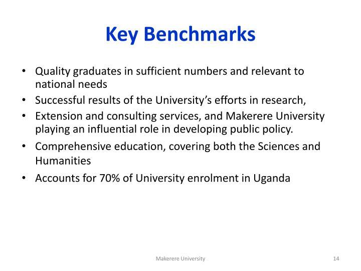 Key Benchmarks