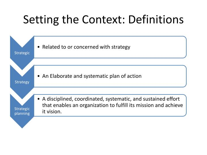 Setting the Context: Definitions
