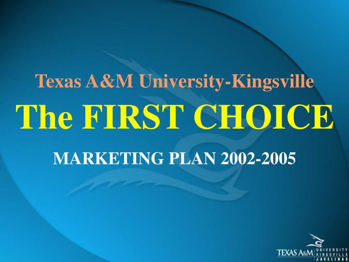 Marketing plan 2002 2005