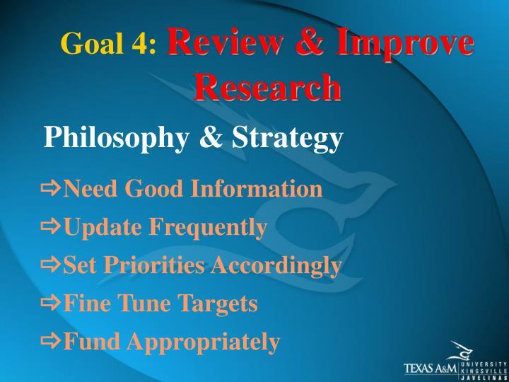 Goal 4: