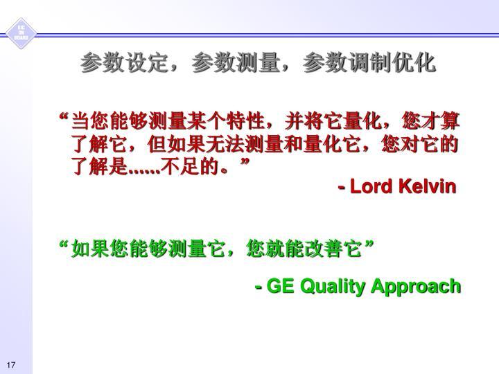 参数设定,参数测量,参数调制优化