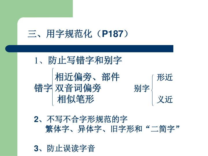 三、用字规范化(