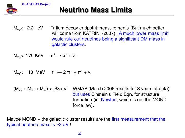 Neutrino Mass Limits