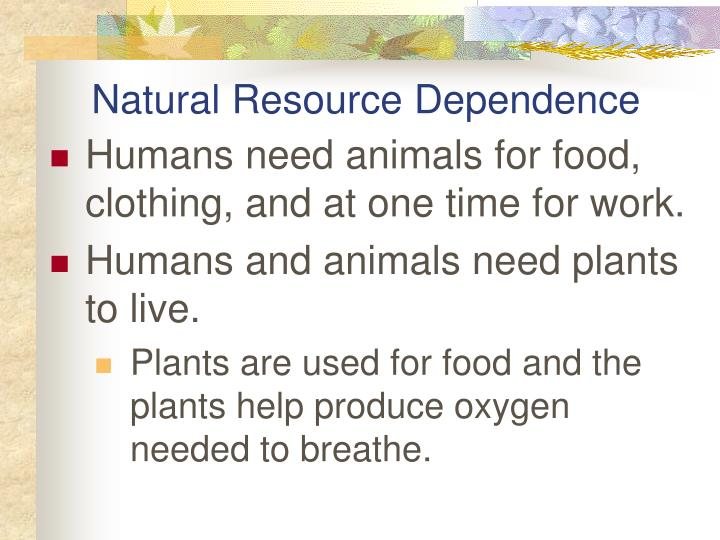 Natural Resource Dependence