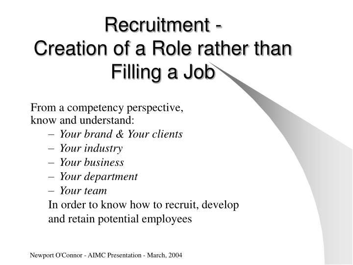 Recruitment -