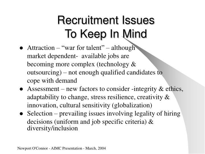 Recruitment Issues