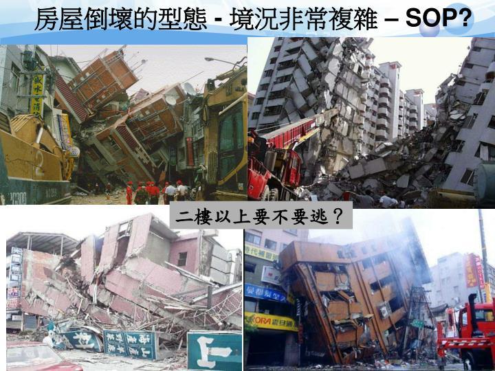 房屋倒壞的型態