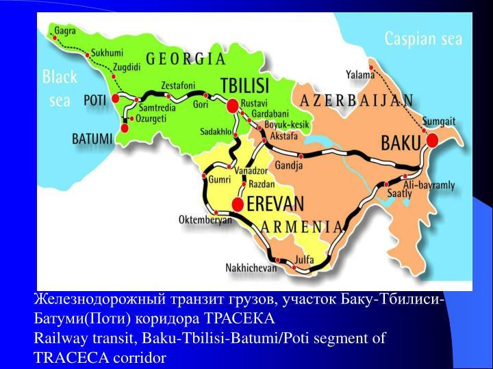 Железнодорожный транзит грузов, участок Баку-Тбилиси-