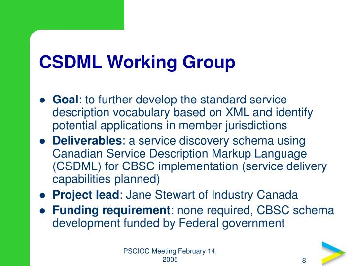 CSDML Working Group