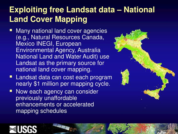 Exploiting free Landsat data – National Land Cover Mapping